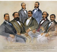 the first colored senator and representatives Temple Hills, 20748