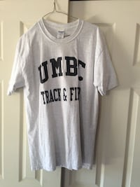 UMBC Track & Field Tee Shirt Size Large Baltimore, 21236