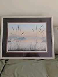 white wooden framed painting of trees Southport, 28461
