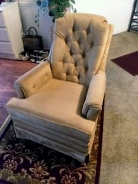 GOLD SWIVEL ROCKING CHAIR