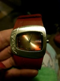 NWOT Womens Red Leather Dickies Watch