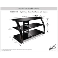 Bello Glass top TV stand New York, 11432