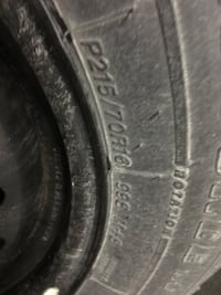 4 - P215/70R16 snow tires on rims (< 10k on tires) Burlington, L7S 2J9