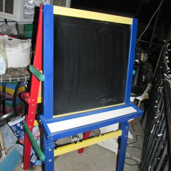 chalk board easel and dry eraser board