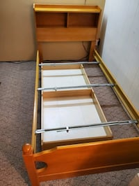 Twin bed headboards, frame, & underbed drawer