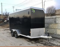 BEST SALE PRICE 7X14 Enclosed Cargo Trailer with V-Nose