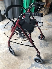 Black and gray rollator walker Brampton, L6W 4M5