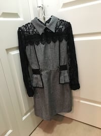 Black and grey lace long-sleeve mini dress Surrey, V3S 4P2