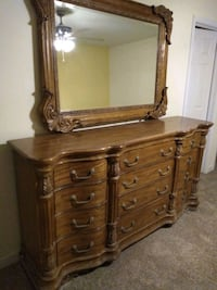 French Country Dresser,Mirror and Storage Cabinet Bethesda, 20817