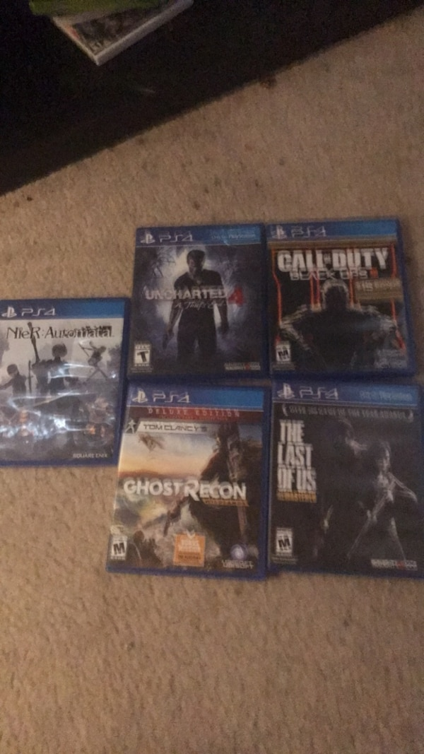 Four assorted ps4 games