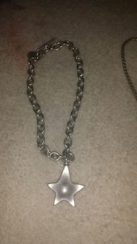 Heavy stainless steel necklace .