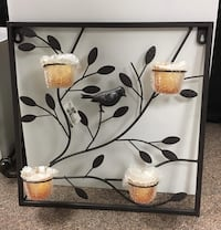 16x16 metal wall decor with tea light holders  Barrie, L4N 5S6