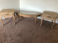 Two brown wooden coffee tables Sneads Ferry, 28460