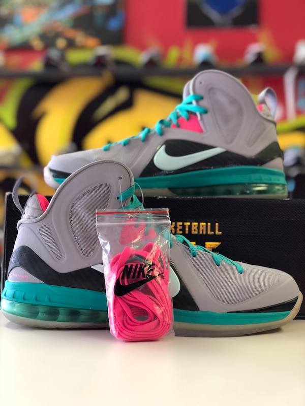 0b17a44c3df3 Used Lebron James 9 South Beach ( Size 12 ) for sale in Stockbridge - letgo