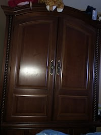like new 2 pc armoire solid wood