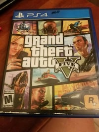 Grand Theft Auto Five PS4 game case Charlotte, 28262