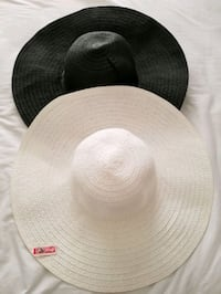Two Ardene women's hats in black and white  Montréal, H4N 0B5