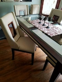 rectangular brown wooden table with chairs dining  Holyoke, 01040