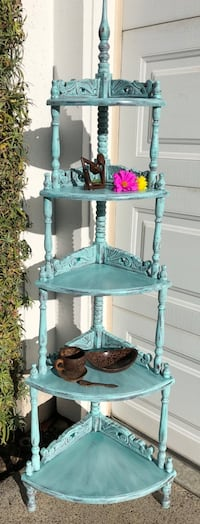 Exotic 5 Tiered Corner Display Shelf/Etagere with a Mid-Century Flair— #B (2 of 2). $20 LESS THAN ETSY! San Diego, 92128