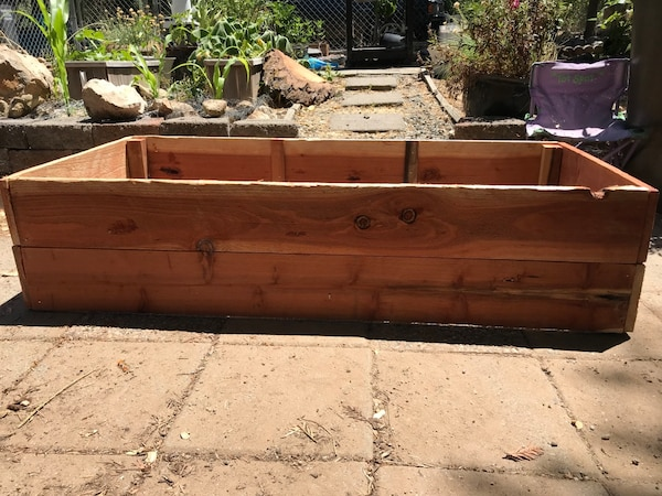 Redwood Raised Garden Bed