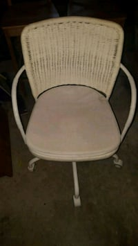 white wicker back/metal armchair Takoma Park