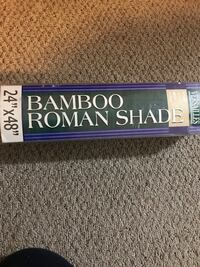 Bamboo shade 2x4 feet size. Perfect for covering a small window. Create a nice tropical ambience!! Surrey, V3R 3S6