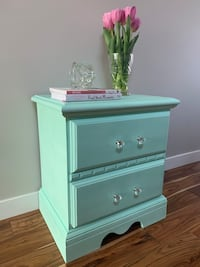 Refinished Nightstand in Seaglass