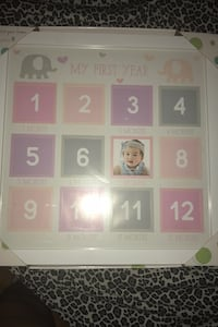 """Pink Baby """"my first year"""" picture frame Boston, 02124"""