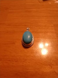 Sterling silver turquoise pendant Perryville, 21903