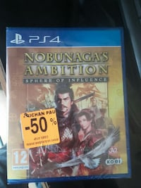 Nobunaga's Ambition Sphere of Influence PS4 game case