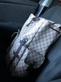 Gucci - Beige GG Canvas Backpack