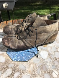 Leather Diesel boots. Size 10. Tough boots, re-healed. Look great. Schenectady, 12303
