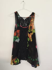 women's red and black floral tank dress