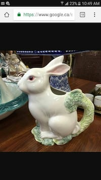 Hand painted from Italy ceramic Pitcher Cobourg, K9A 3L7