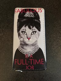 Audrey Hepburn Cat Wallet