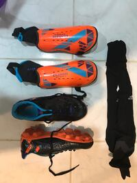Soccer cleats and knee pads
