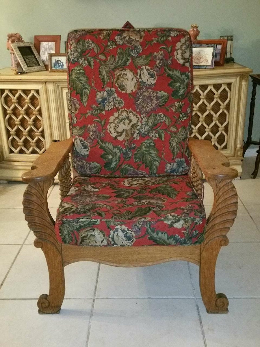 Antique  Oak Recliner Chair - Fort Lauderdale