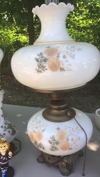 Vintage large double globe 3 way lamp Franklin, 03235