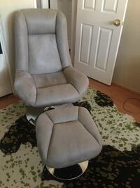 Lounge chair with ottoman . Brown grey color . Los Angeles, 90049