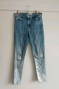 Zara jeans with glitter bottoms, size 38 Gamle Oslo, 0188