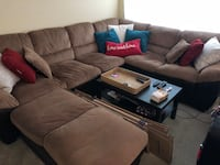 Brown suede sectional couch  Alexandria, 22304