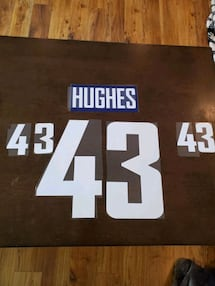 Quinn Hughes name and number kit