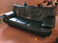 Green Leather Couch Set  Palos Heights, 60463