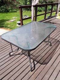 Large rectangle patio table West Kelowna