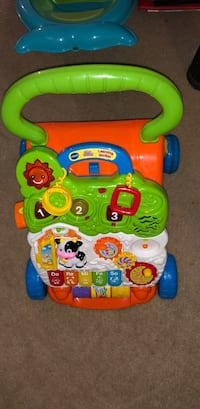 baby's green and yellow Vtech learning walker Chesapeake, 23322
