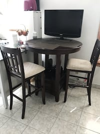 black wooden table with four chairs New York, 11214