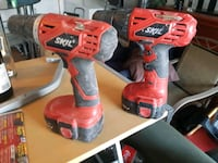 red and black Milwaukee cordless power drill Edmonton, T5Y 2N7
