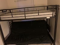 Bunk bed futon with side desk.  Lanham, 20706
