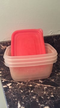 three clear plastic containers Yorktown