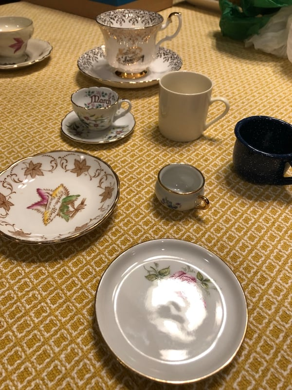 Rare and unique tea cups and saucers.  Some from Germany. England and France.  Free delivery.    15e7d33f-c94c-4d2a-9c2d-6487e5f726e0